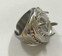 wholesale titanium ring indonesia gemstone Ring Colorful Titanium Silver 316L Stainless Steel Indonesia Men Titanium Rings