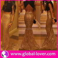 New design two piece high neck sleeveless navel-revealing bling hot girl sexy picture 3d without dress