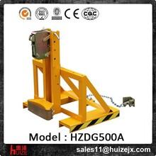Penhora empilhadeira de óleo do cilindro de levantamento braçadeira capacidade de 500 kg aço/tambores de plástico