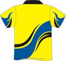 Healong Dye-Sublimation Printing Fluorescent Contrast Collar Polo Shirt