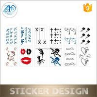 adult body tattoo stickers,tattoo stickers gold silver,metallic tattoo stickers
