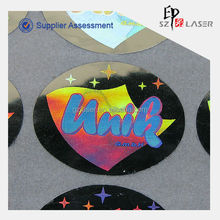 15*30mm oval holographic label with prompt delivery
