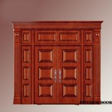 Entry wood walnut interior barn double door price