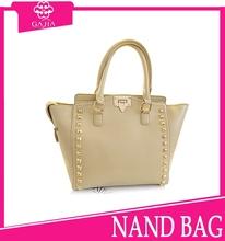 2015 Hot sale rice white fashionable wholesale leather handbags elegence beautiful new design high quality brand handbag girl