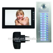 color video intercom set, door entry phone,touch button