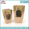 Rectangular outdoor ceramic planter