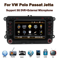 3G internet 2 Din 7 inch Car DVD Player with GPS for VW Volkswagen Passat POLO GOLF Skoda Seat