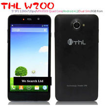 5inch THL w200 mtk6589 quad core android 4.2 dual sim dual camera android phone mobile