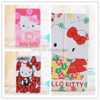 """Hello Kitty Cartoon PU Leather Case Stand Cover For Universal 7.0 inch 7"""" Tablet Case For Kids"""