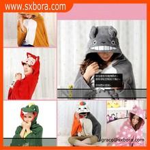 wholesale super soft cat print cheap travel blankets