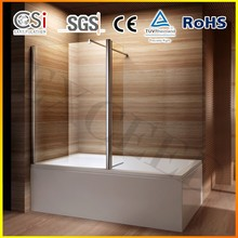 6mm glass shower screen for bath tub with side panel EX-222