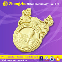 custom 3d Zinc alloy metal name lapel button badge maker antique copper brass pin school sport company hat cap logo emblem 2015