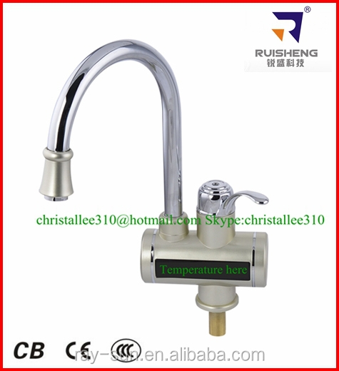Digital display! Kitchen and Bathroom Electric hot water tap instant water heater faucets