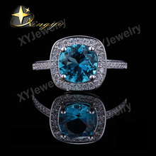 925 silver jewelry rings wholesales with white AAA and blue color XYR101283