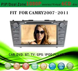 car dvd gps providers fit for Toyota Camry 2007 - 2011 with radio bluetooth gps tv pip dual zone
