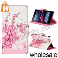 Cute Pattern Magnetic Flip Stand Wallet Leather Case for Sony L39h Xperia Z1 C6902 C6903 C6906