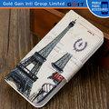Torre Eiffel PU Flip Cover Para iPhone 5S