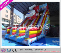 Giant red color inflatable slide, fire truck slide for kids, inflatable water slides price