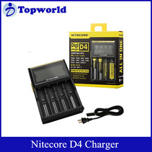 2015 Hot Selling Nitecore D4 Charger with Integrated LED Microcomputer Intelligent Charger for 18650 Li-ion battery