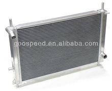 Car aluminum Radiator with oil cooler inside