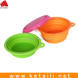 Healthy Diet Ros Silicone Pet Expandable/Collapsible Travel Bowl Any pantone color available