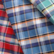 2015 new fashion plain yarn dyed fabrics/big checks