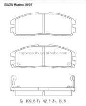 A387K D580 Brake Pad GDB1187 8970392690 1605851 For OPEL FRONTERA A Sport Brake Pad