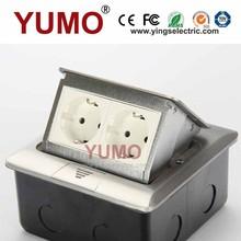 De importación yumo hgd-1flu( aleación de aluminio) 2 europeo protectores para enchufes piso