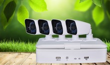 DVR 4 CH 4 Camera ir waterproof digital color ccd camera With 10 Inch Screen - H.264, D1 Resolution, HDMI Port
