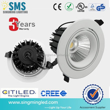 CE RoHS COB 15W led Downlight,0-10V Dimmable LED Downlight