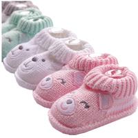 2016 New warm animal knitted baby shoe winter warm cute crochet baby shoe pattern