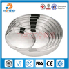 32cm non-slip stainless steel round metal food serving tray,bakery plate