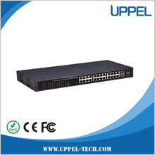 Fiber optic network switch 24-port 100Mbps+2SFP Port POE managed Ethernet Switch