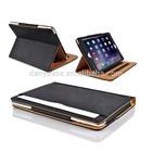 Atacado black tan tablet caso para ipad 6 pu caso de couro, comprimido para cobrir ipad