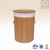 Easy style natural foldable laundry basket bamboo clothing wholesale