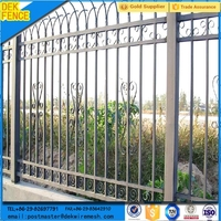 Pre Galvanized Beautiful and Durable Art Iron Fence Designs