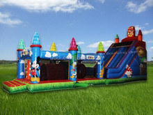 hot!!! wholesale inflatable D i s n e y Obstacle Course