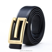 Fashion Belt Strap Mens Genuine Leather Stylish Casual Metal Plain Waist Buckle Belt