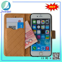 High quality gold pu leather cell phone leather cases for iPhone 6