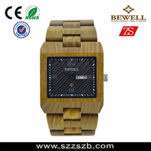 Hot New Watches 2015 Wood Material Square Face Watch Business Watch