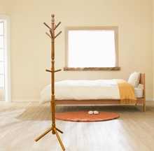 2015 hot sale 100% Eucalyptus wooden coat hanger stand/ closees hanging stand B02