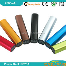 famous brand mobile manual for power bank battery charger/2014 portable gift power bank 2600mah