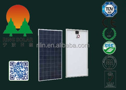 High quality low price elaborate process perfect service Chinese Ningbo flexible18V 270W poly solar panel