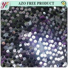 Fashion design 5mm round shiny spangle sequin with holes embroidered mesh lace fabric for decoration