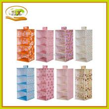 Multifuncation hanging waterproof non woven foldable bag,home wardrobe storage bag with drawer , bra foldable organiser