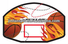 Mounted basketball board with ball return net