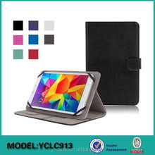 7-8 inch Universal Tablet PC Wallet Style PU Leather Case from Dongguan Factory