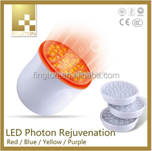 3 color LED light therapy , color photon ultrasonic beautiful skin instrument for home use