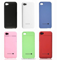2200mAh Portable Power Pack External Backup Battery Charger Case For iPhone 4/4S