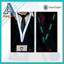2014 China, artículos populares de cuello de impresión fluorescente en Reflective Lanyard pantalla de seda Layer